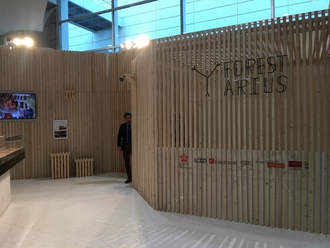 Stand Forestarius au salon Woodrise
